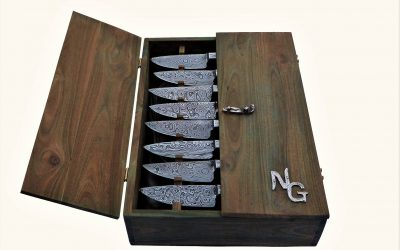 8 Knife with Wood Box