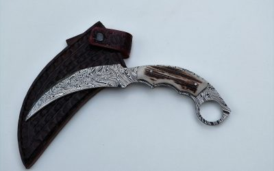 Twisted Damascus Steel Karambit
